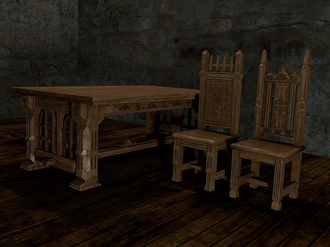 Gothic table and chairs