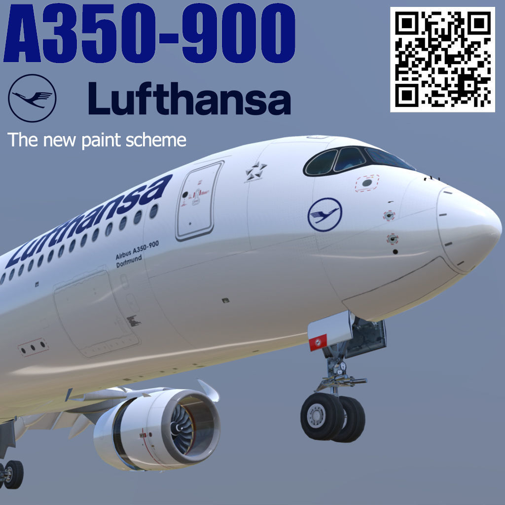 Airbus A350-900 Lufthansa new color livery