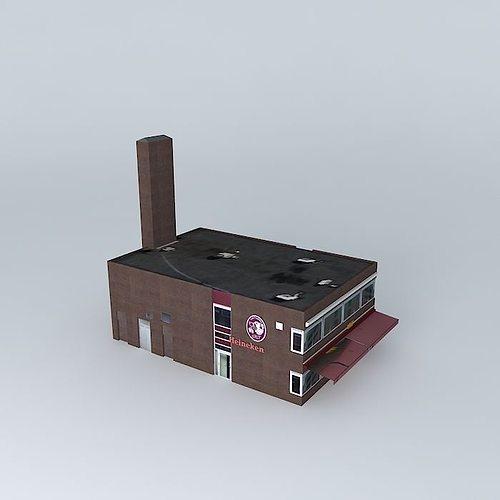 cafe restaurant 3d model max obj 3ds fbx stl skp 1