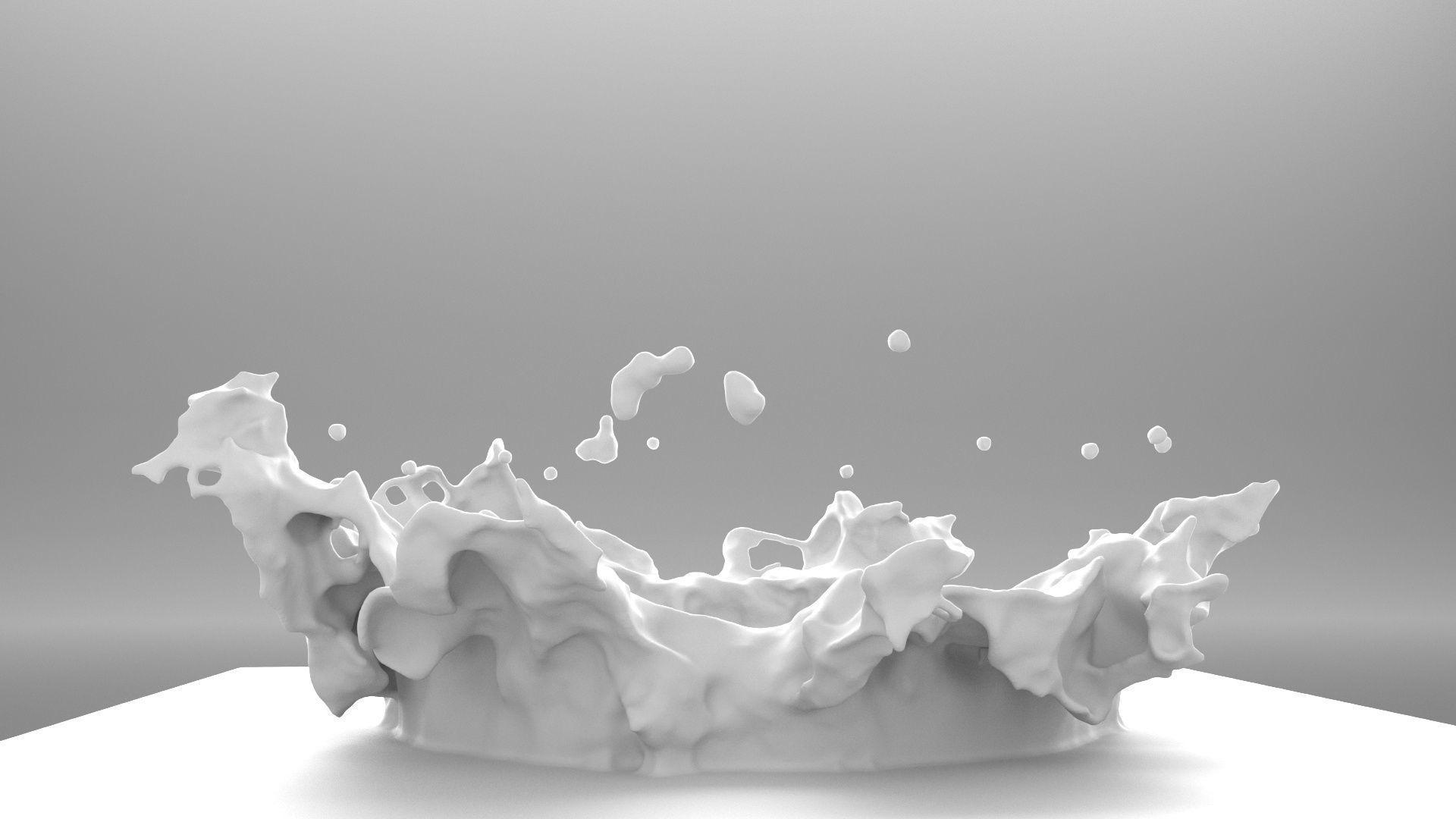 water splash crown shape