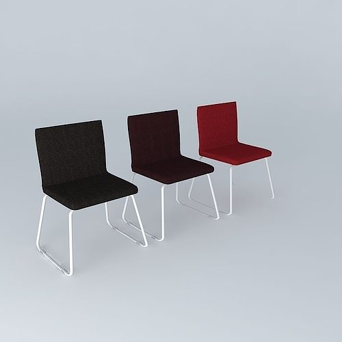 Genial Bernhard Set Of Chairs 3D Model