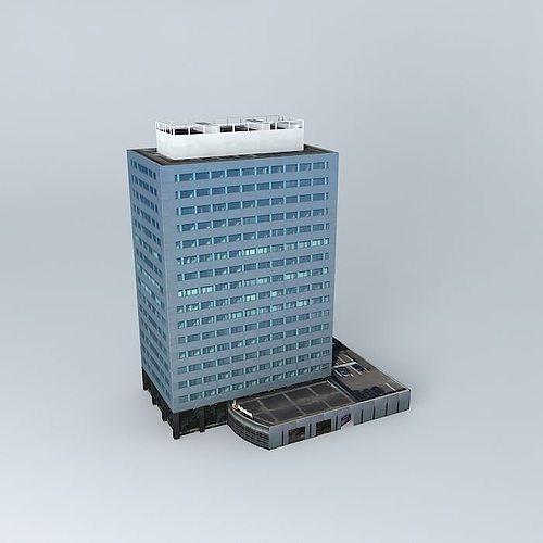 office building 3d model max obj mtl 3ds fbx stl skp 1
