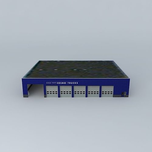 industrial building 3d model max obj 3ds fbx stl skp 1