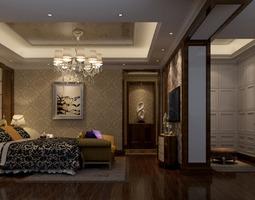Spacious guest room 3D