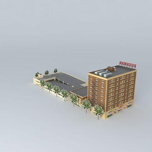hotel rushman 3d model max obj mtl 3ds fbx stl skp 1