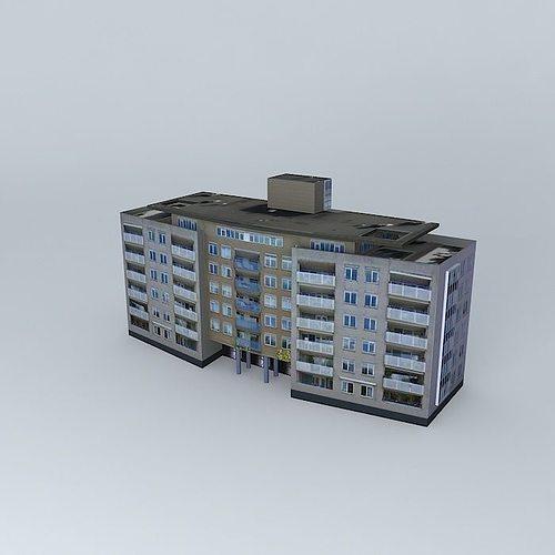 flat 3d model max obj 3ds fbx stl dae 1