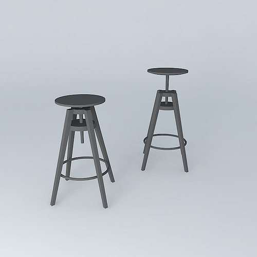 DALFRED bar chairs 3D model - DALFRED Bar Chairs 3D Model MAX OBJ 3DS FBX STL SKP