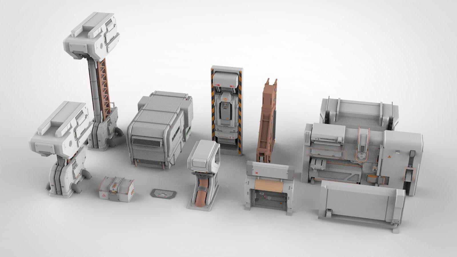 sci-fi Architecture kitbash 27