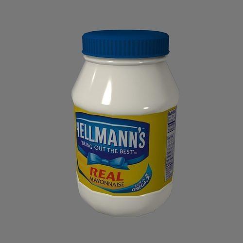 Mayonnaise Lowpoly Gameready