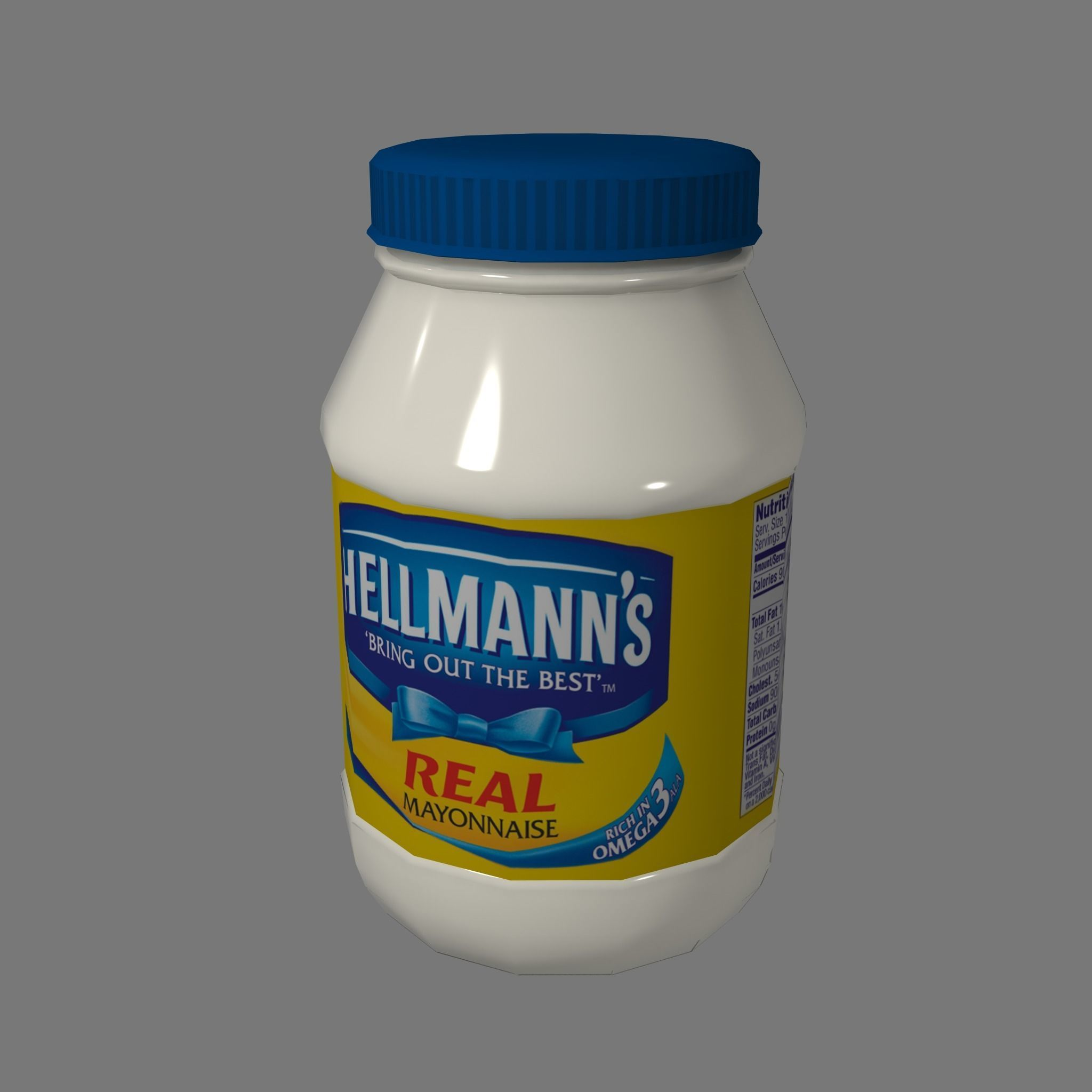 Mayonnaise Lowpoly Gameready | 3D model