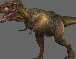 animated 3d tyrannosaurus rex -maya