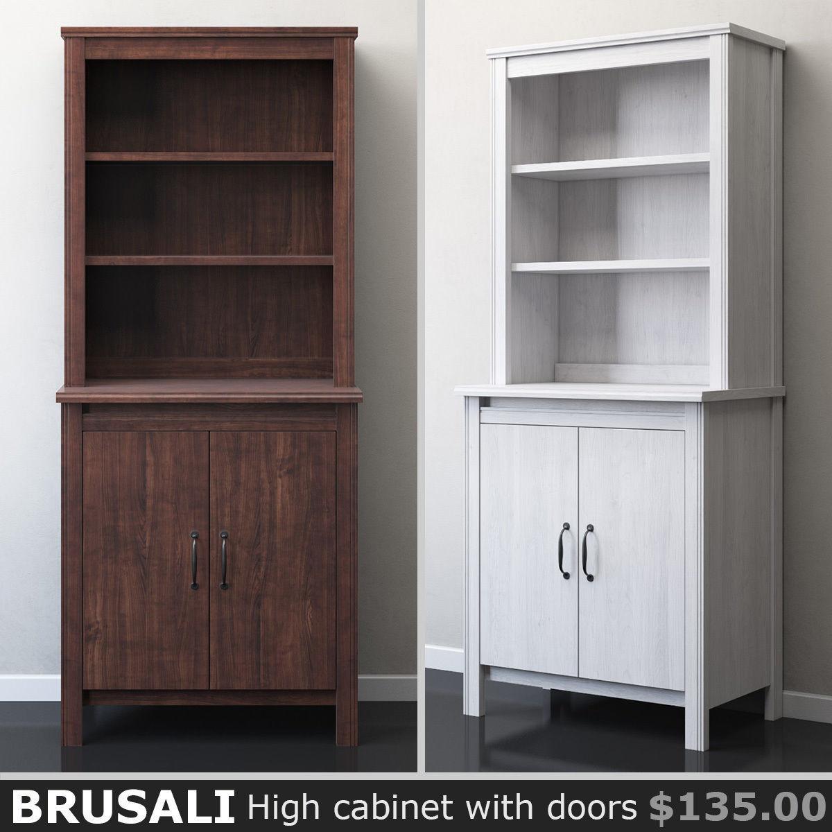 Ikea Brusali Nachttisch : 3d ikea brusali high cabinet with doors cgtrader ~ Watch28wear.com Haus und Dekorationen