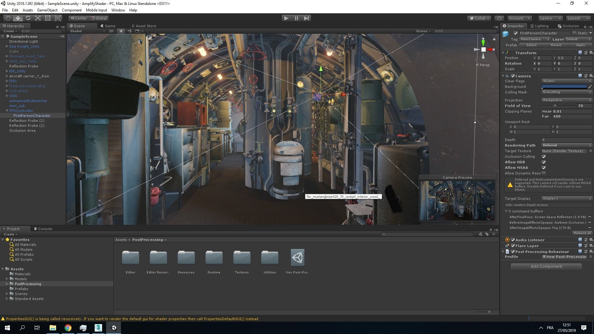 Submarine With Interior Details | 3D model