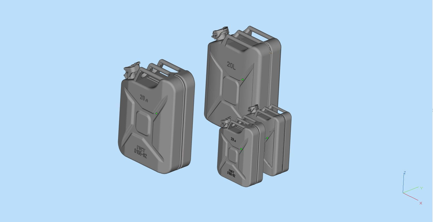 Metal petrol FUEL CANISTER  Jerry Can 3D models Printable