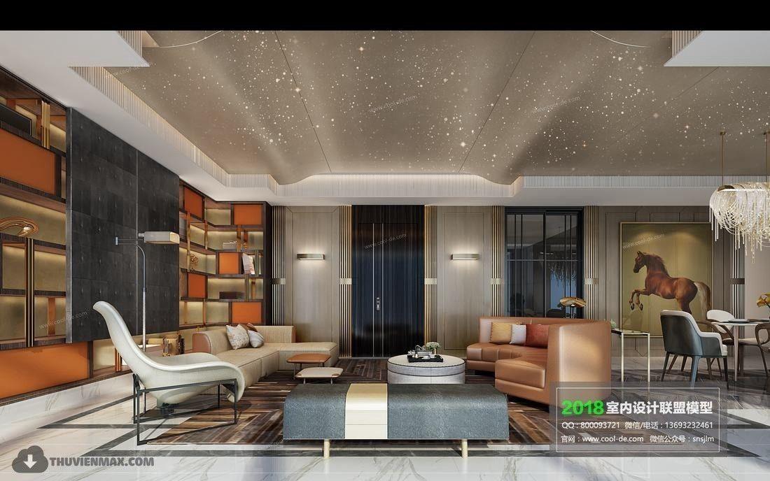 . Modern Living room 7   3D model