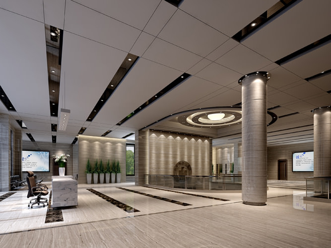 Lobby In Office Building 3d Cgtrader