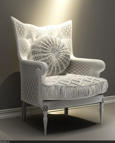 ... fancy chair collection 3d model max obj 3ds 6 ...