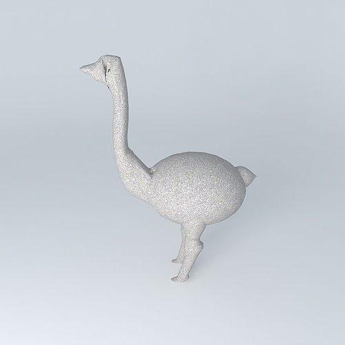 ostrich statue 3d model max obj 3ds fbx stl dae 1