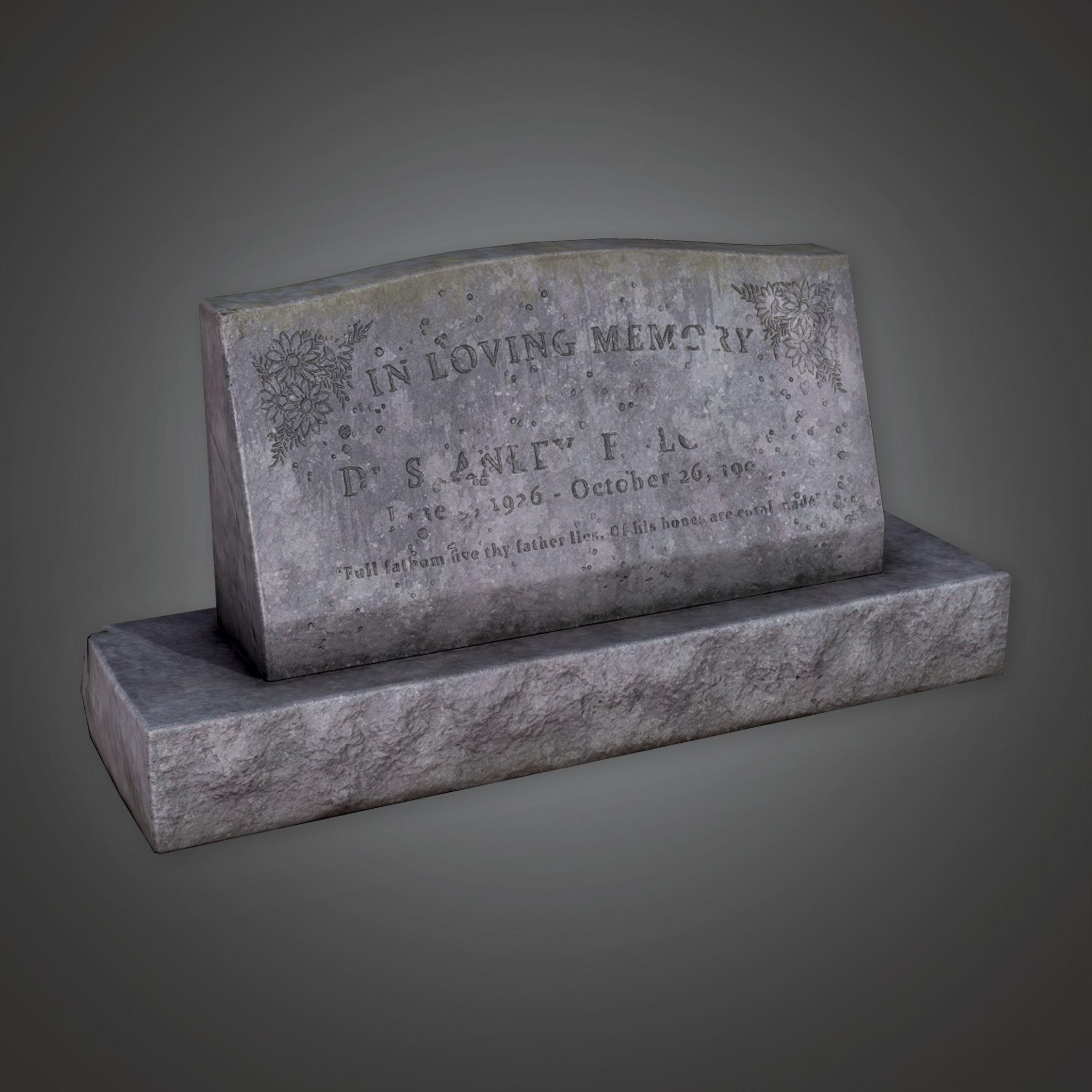 CEM - Grave Stone Cemetery 11 - PBR Game Ready