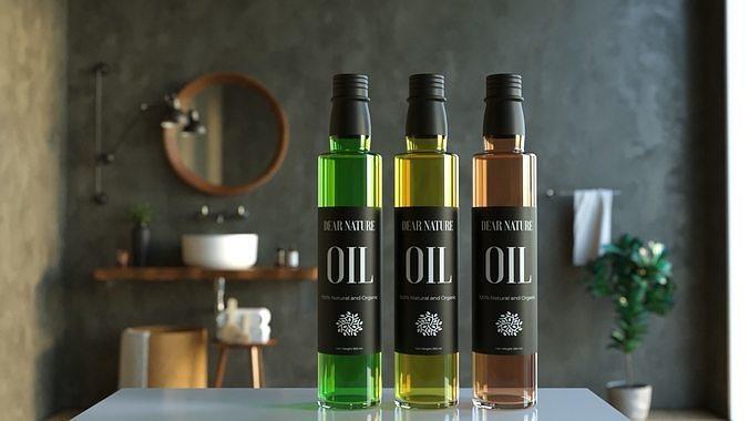 Olive Oil Bottle 3D 250 ml