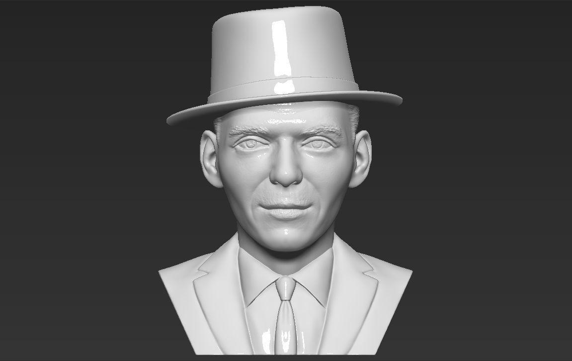 Frank Sinatra bust 3D printing ready stl obj formats