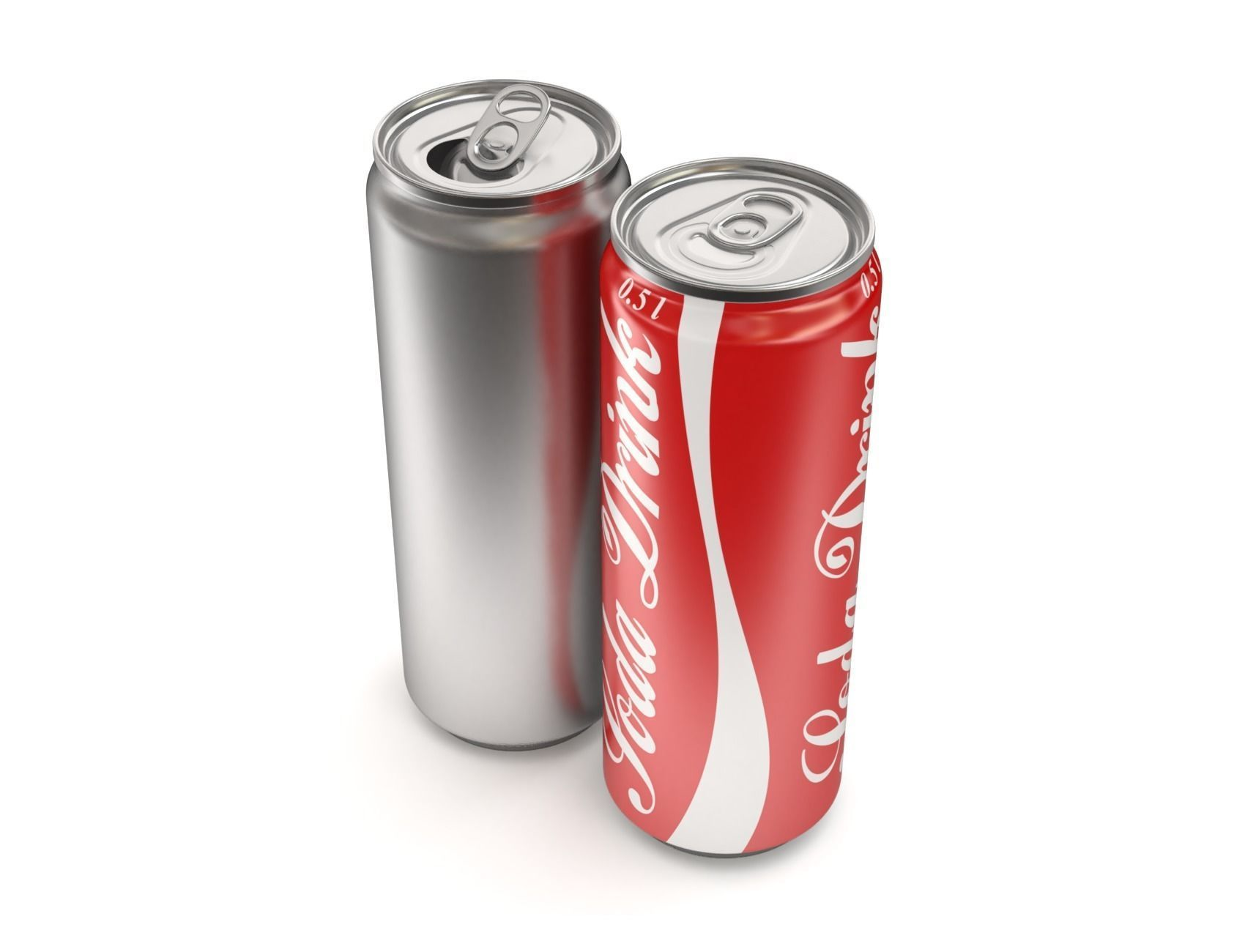 Open and closed drink can