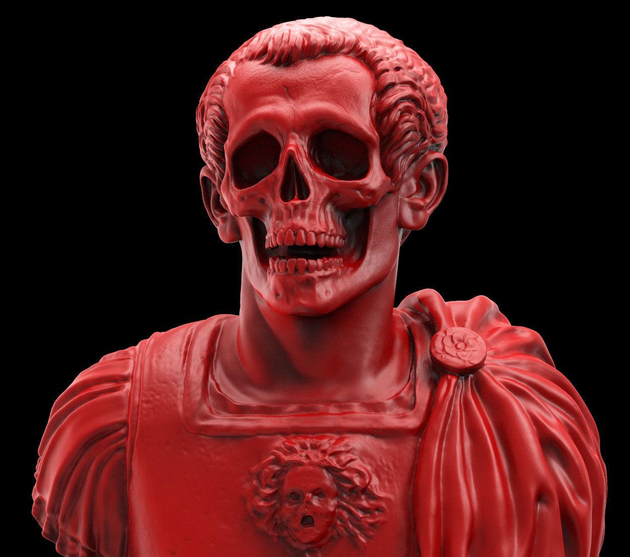 Caesar Skull Bust