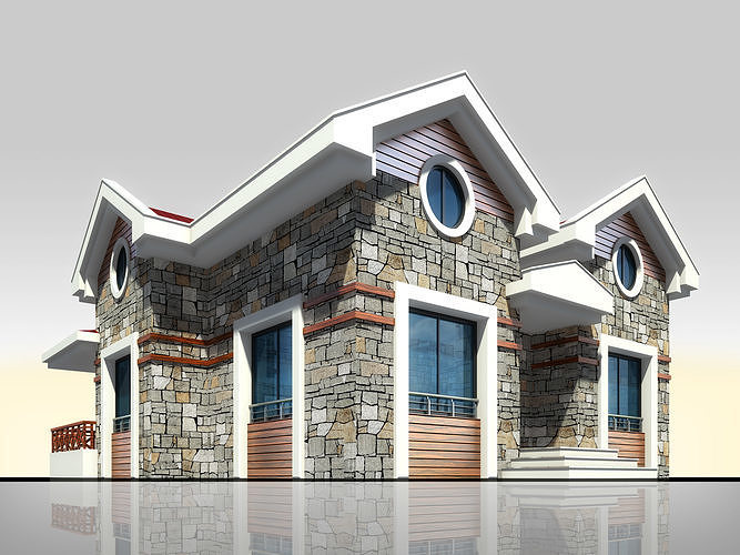 Home Architectural 3d Model with Render Scene