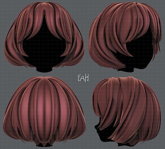3D Hair style for girl V69