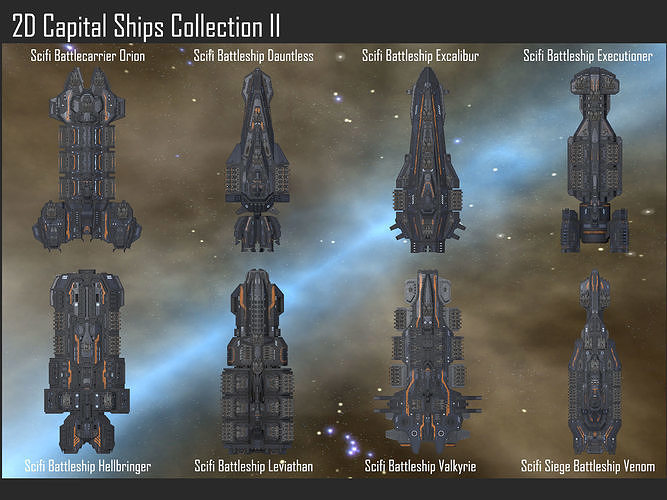2D Capital Ships Collection II
