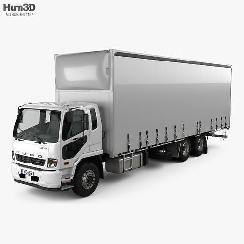 Mitsubishi Fuso Fighter Curtainsider 14 Pallet Truck 2017