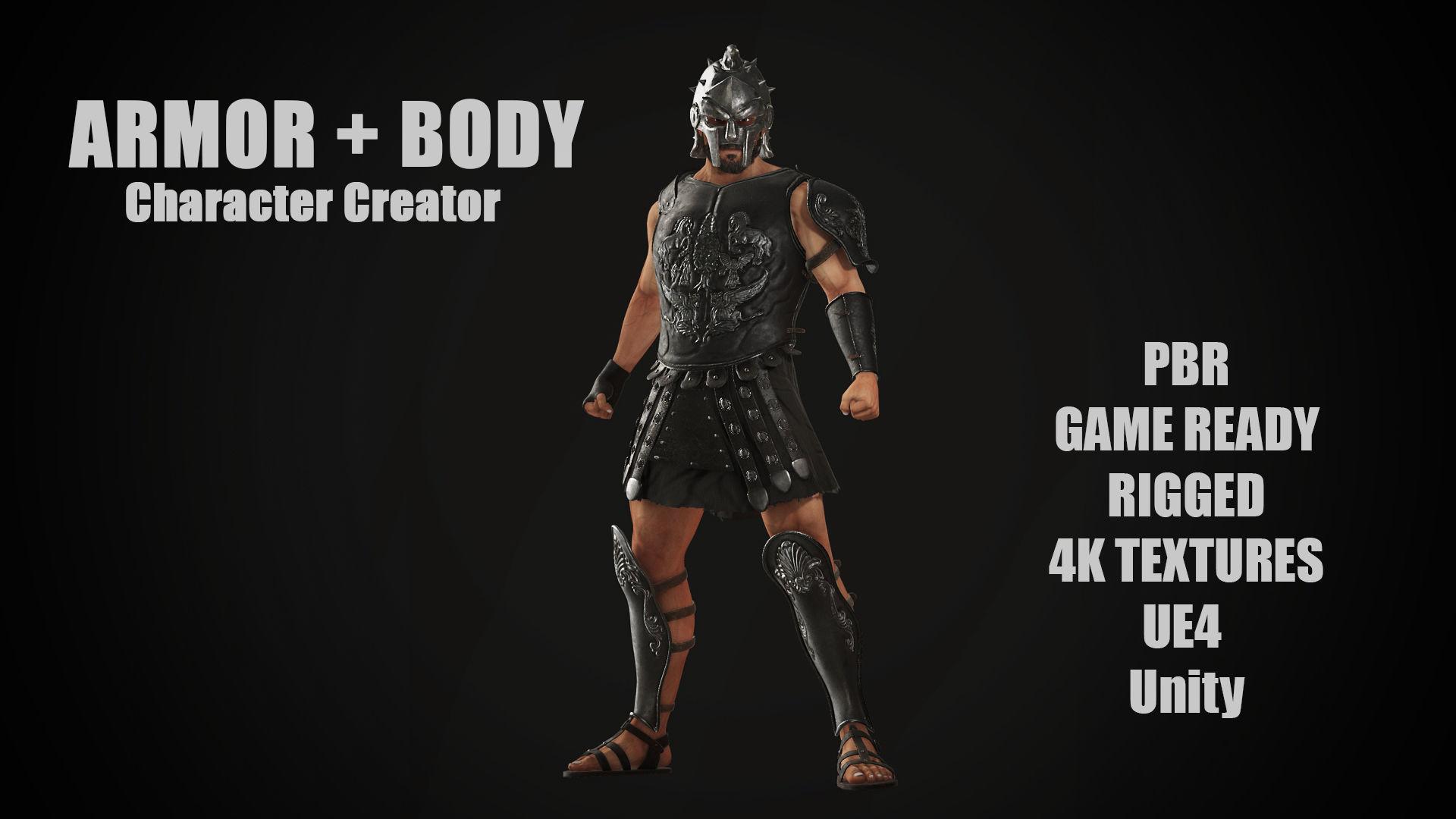Roman Gladiator Ancient Warrior MAXIMUS for Character Creator | 3D model