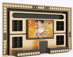 vismara wall piramid entertainment center 3d model