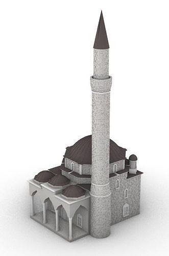 Mosque Husein Pasa 3D model