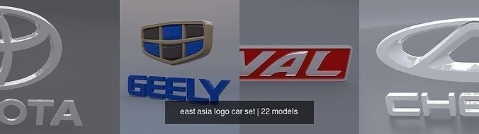 east asia logo car set