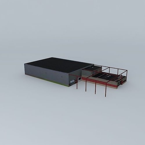 industrial building 3d model max obj 3ds fbx stl dae 1