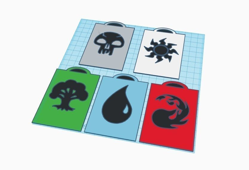 image about Magic the Gathering Card Dividers Printable called Magic The Accumulating Card Dividers 3D Print Style