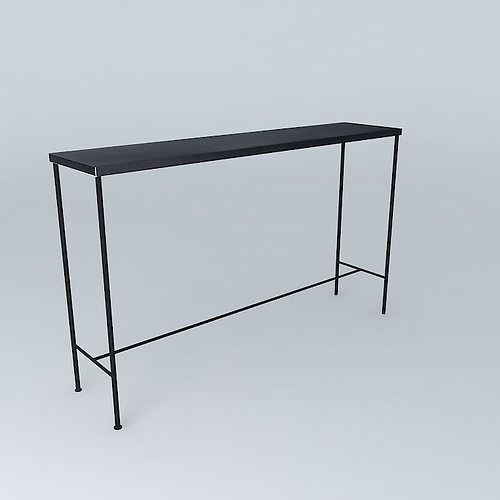 The 130cm Console Edison Maisons du Monde 3D model MAX OBJ MTL 3DS ...