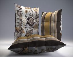 Buttoned Pillow 3D