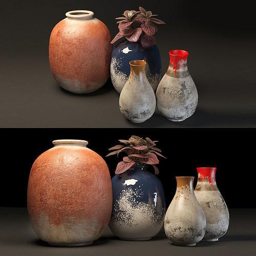 rustic pot set