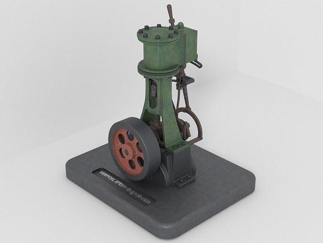 VERTICAL STEAM ENGINE WITH REVERSE GEAR -1830