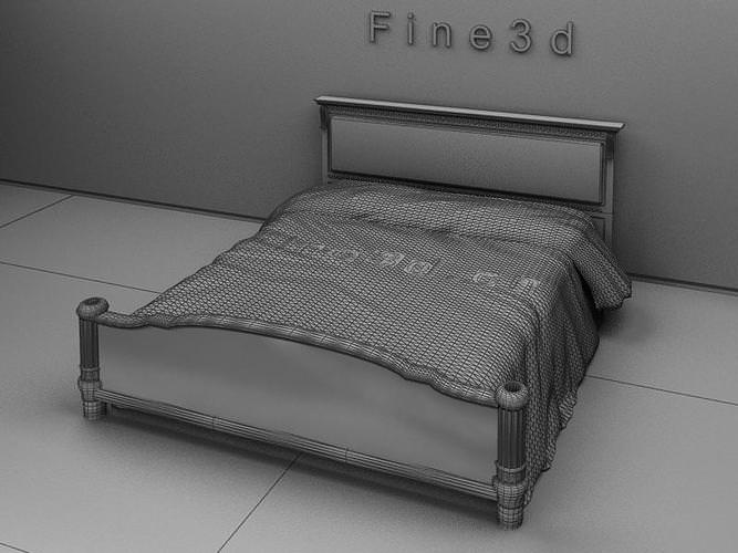 Bed collection small 3d model max obj 3ds for 3ds max bed model