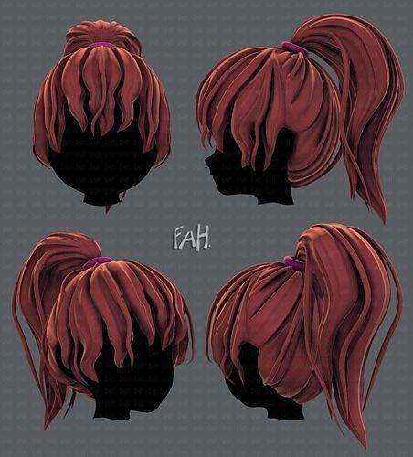 3D Hair style for girl V71