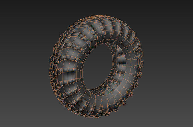 Low poly tyre  game asset uvw