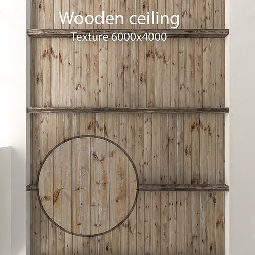 Wooden ceiling with beams 1