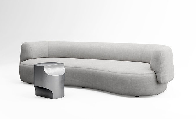 Christophe Delcourt Fao sofa and Ope side table
