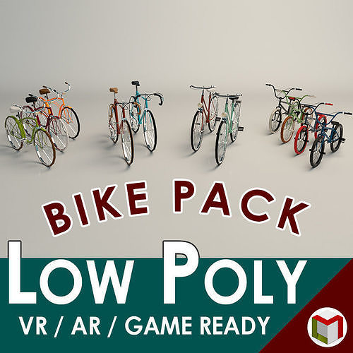 Low Poly Bike Pack