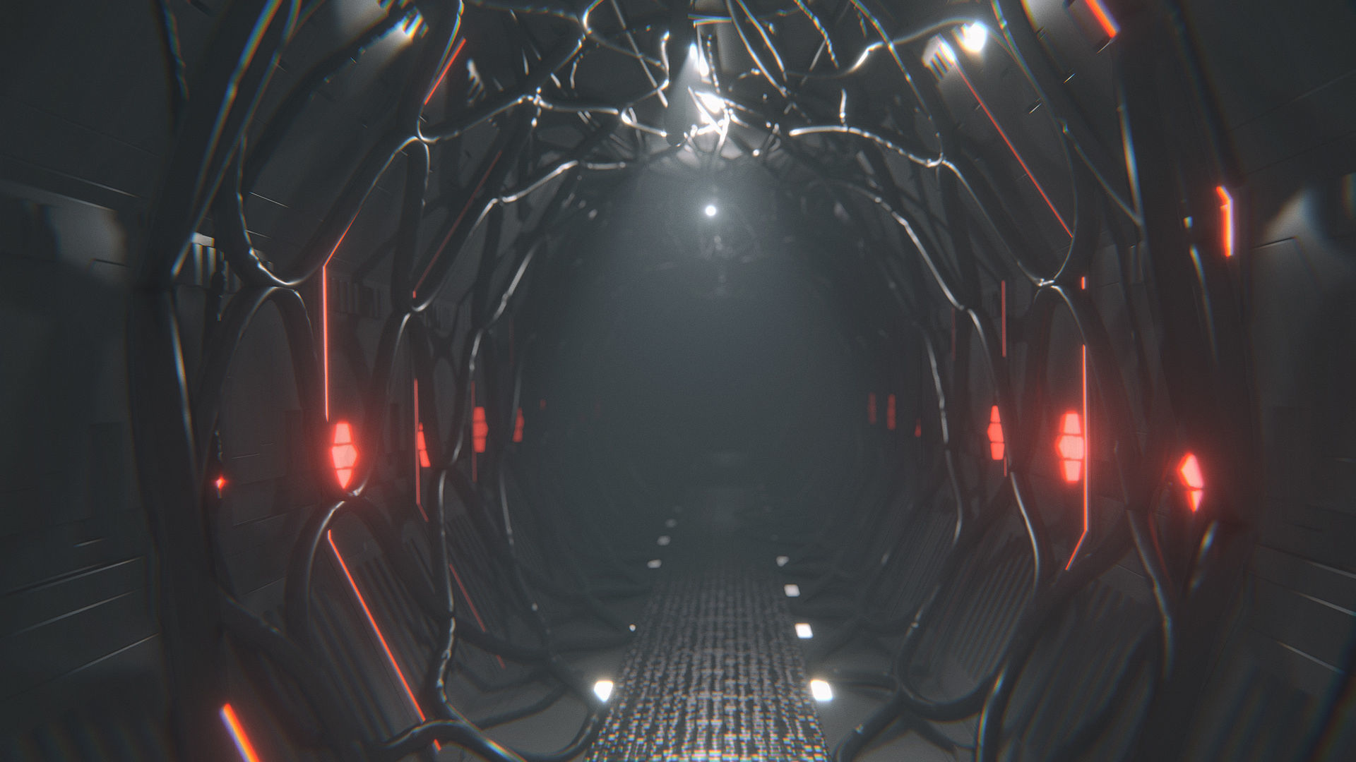 Sci Fi Corridor Tunnel Interior