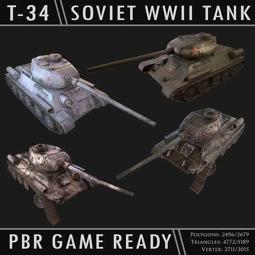 Soviet T-34 WWII Tank