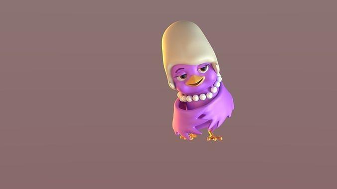 Cartoon Mama Bird